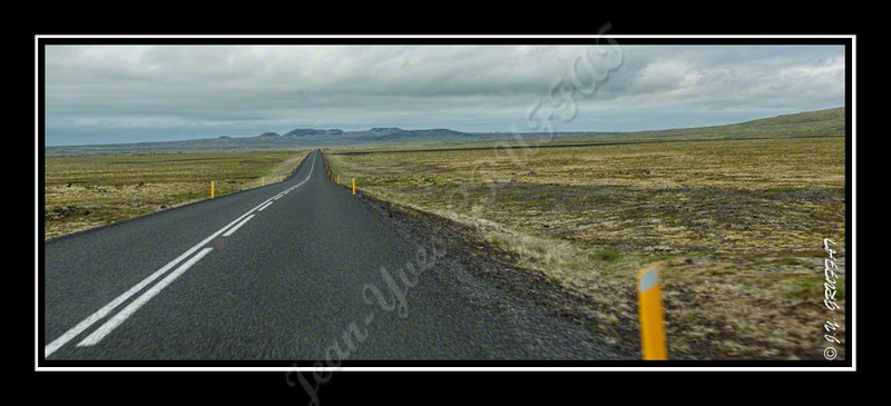 At the end of the Snaefellsnes peninsula, long road out of sight