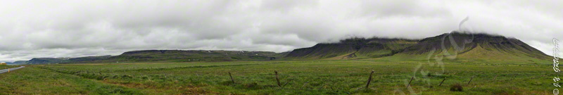 While entering the Snæfellsnes peninsula
