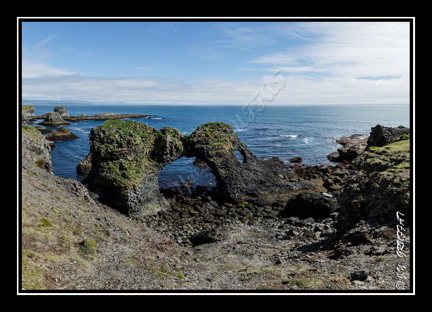 Walk on the black basalt cliffs at Arnarstapi